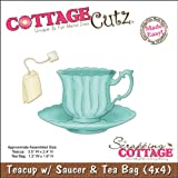 CottageCutz Die-Teacup/Saucer 3.5-Inchx2.4-Inch, Tea Bag 1.3x1.9