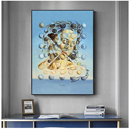 Pintura famosa Salvador Dali Galatea EsferasPintura Lienzo Pintura Arte de la pared para la sala de estar Decoracion del hogar Impresiones en HD Cartel del hogar Lienzo-50x70cmx1pcs -Sin marco