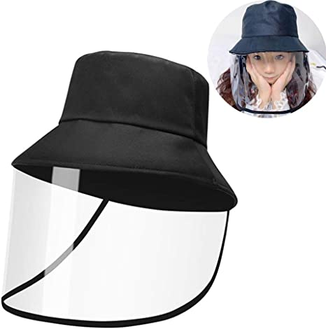 Full Face Baseball Cap Breathable Hard Hat with Face Shield Wide Brim Anti-Droplets Anti-dust for Outdoor Dust-Proof with Removable