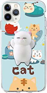 XYIYI iPhone 11 Pro Case, Finger Pinch 3D Cute Soft Silicone Poke Squishy Cat Phone Back Protective Cover for Apple iPhone 11 Pro 5.8 inch