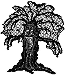 product image for Heritage Lace 'Spooky Hollow 8-Inch by 10-Inch House, 8-Inch by 10-Inch Tree and 10-Inch by 14-Inch Fence, Black, Set of 3 Accent