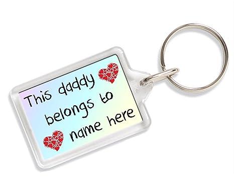 Amazon.com: Llavero esta Daddy pertenece a cualquier nombre ...