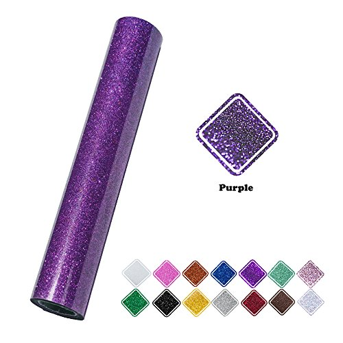 VINYL FROG 9.8x60(0.8x5ft) PU Purple Glitter Heat Transfer Vinyl for T-Shirt Clothing
