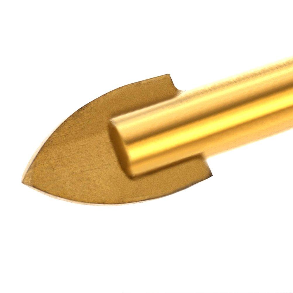 Tian 6 tlg Fliesenbohrer Set Titanium Glasbohrer 4 mm 12mm Hohlbohrer Keramikbohrer Bohrer Bohrerset mit 1//4 Sechskantschaft f/ür Glas Feinsteinzeug Keramikfliesen Spiegel Marmor