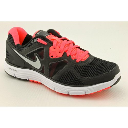 Nike Womens Nike Lunarglide + 3 Breathe Wmns Scarpe Da Corsa (nero / Mtllc Siver / Wht / Ht Pnch) Rosso