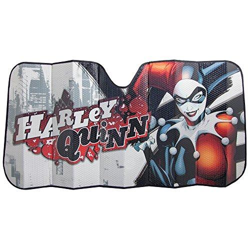 (DC Comics HARLEY QUINN BATMAN SHIELD AUTO SUNSHADE 27.5