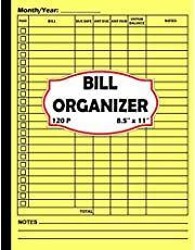 Bill Organizer: Bill and Expense Tracker / Keep Track of Your Monthly Expenses With This Simple Organizer