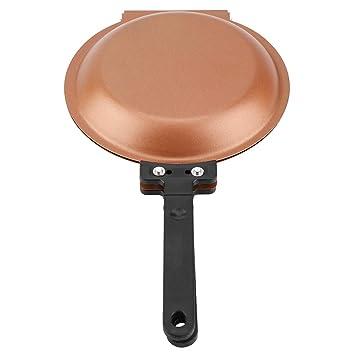7.5 Antiadherente Flip Panqueque Doble Lado Tortilla Skillet de Panqueques de Cerámica Ronda Tortas Tostadas Huevo Cookware Socialme-eu: Amazon.es: Hogar