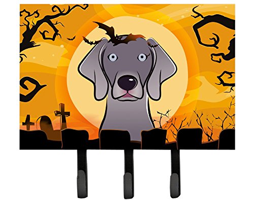 Caroline's Treasures BB1789TH68 Halloween Weimaraner Leash or Key Holder, Large, Multicolor (Weimaraner Leash Hook)
