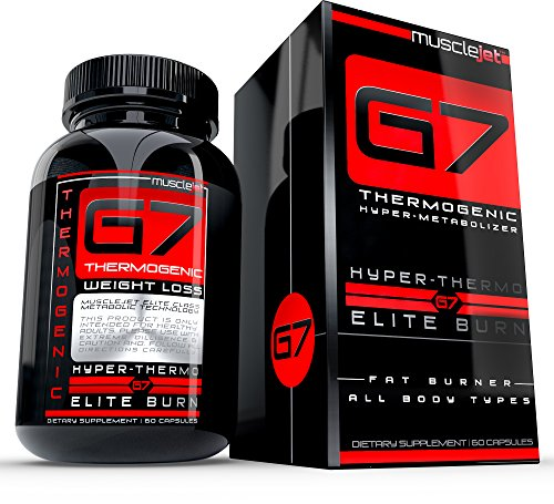 G7 Thermogenic Hyper Metabolizer Diet Pill, Weight loss pills that work fast for all body types, Made with Garcinia Cambogia, CLA, Green Coffee and other Fat Burner Ingredients, 60 pills