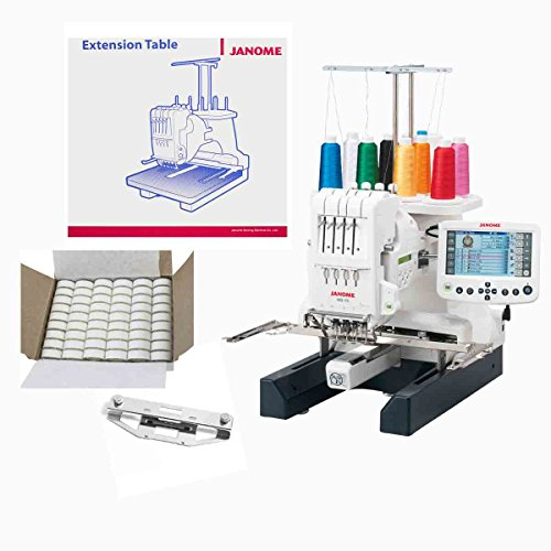 - Janome MB-4S Four Needle Embroidery Machine with Exclusive Bonus Bundle