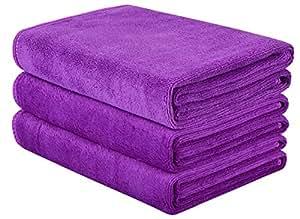 Hope shine toalla de microfibra suave Deportes de secado rápido viaje toallas de gimnasio de 3 unidades (40 x 32 cm): Amazon.es: Deportes y aire libre