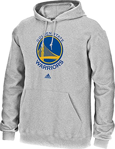 NBA Golden State Warriors Men's Full Primary Logo Fleece Hoodie, Large, Grey (Nba Mens Sweatshirts)