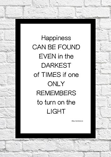 Albus Dumbledore - Happiness Can. Quote - Harry Potter - Poster/Art Print - Unframed
