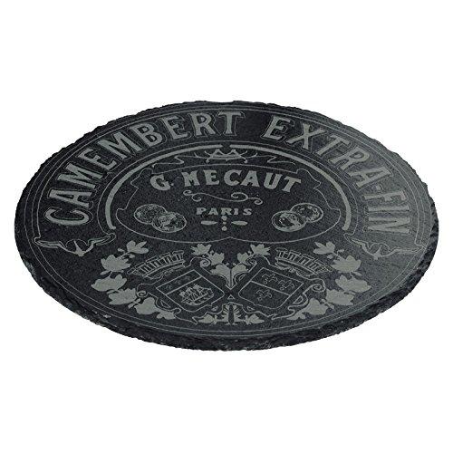 BIA Classic Camembert rund Schiefer-Platte, schwarz