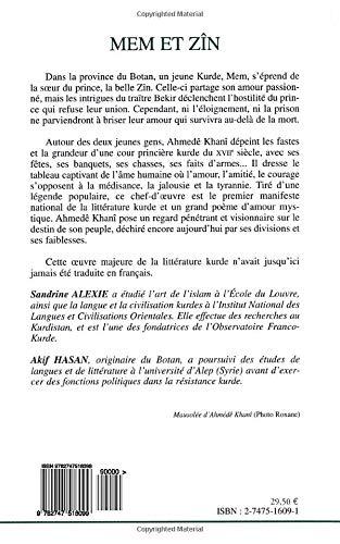 Amazoncom Mem Et Zîn French Edition 9782747516099