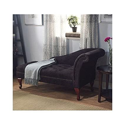 Black Storage Chaise Lounge Sofa Chair Couch For Your Bedroom Or Living  Room,organize And