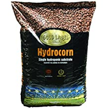 Hydrocorn expanded clay pellets. 1/4 cubic foot bag.