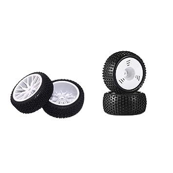 NON Sharplace 4pcs 8mm Hub Rueda Llanta y Neumáticos de Goma para 1:16 RC Buggy Truggy: Amazon.es: Juguetes y juegos