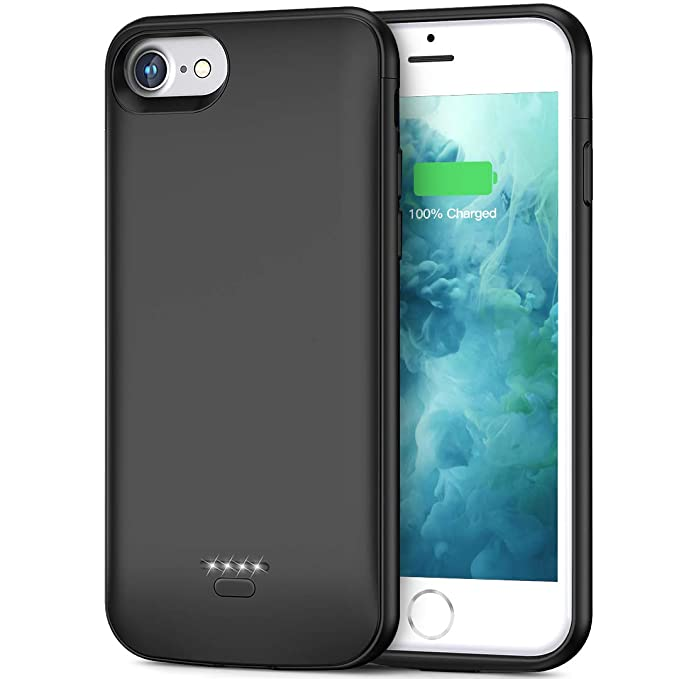 newest collection b3b15 60267 Battery Case for iPhone 6 Plus 6s Plus, Slim 5500mAh Portable Charger Case  Extend 150% Battery Life, Protective Backup Charging Case Compatible with  ...