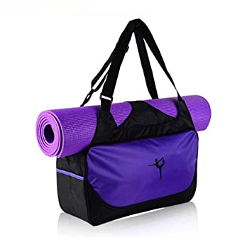 DIBIO Yoga Mat Bag Waterproof Pockets Mat Strap Holder Pilates Clothing Gym  Accessories Carrier Women (Yoga MAT NOT Included) 71ab88690a