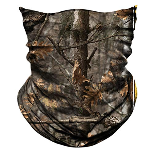 AXBXCX 2 Pack - Camouflage Print Seamless Neck Gaiter Bandana Face Shield Mask Headband Headwear Sweatband Wristband Scarf for Fishing Hiking Hunting Cycling Motorcycle Riding Skiing Outdoor Sport 056