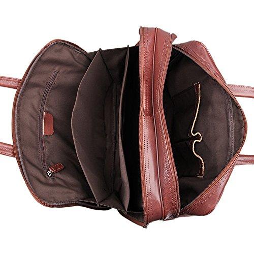 a6068841c Jsix Bolso de Cuero piel Mensajero Bolso de Bandolera Para Hombre del ordenador  portátil Notebooks Marrón (Marrón): Amazon.es: Zapatos y complementos