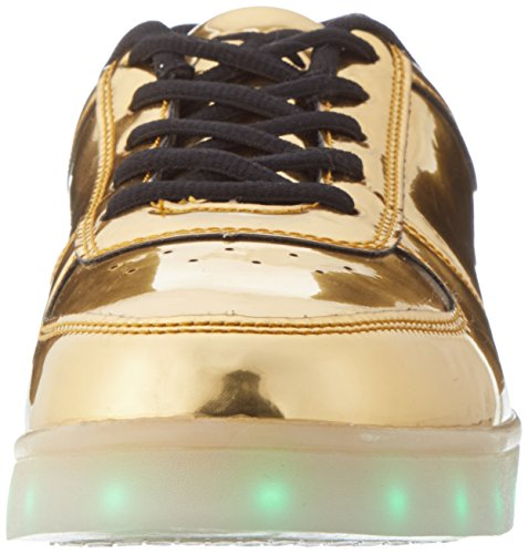 LED Unisex amp; Low wize Top ope Erwachsene Gold qwA8BCIB