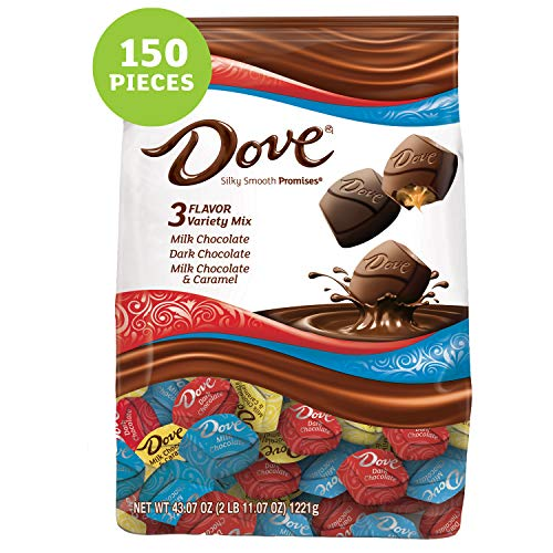 DOVE PROMISES Variety Mix Chocolate Christmas Candy, 43.07-Ounce Bag 153 Pieces (Dark Chocolate Dove)