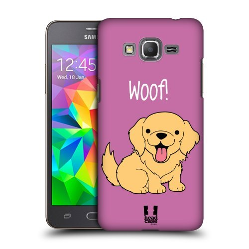 Head Case Designs Golden Retriever Happy Puppies Protective Snap-on Hard Back Case Cover for Samsung Galaxy Grand Prime 3G 4G Duos LTE G530
