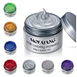 MOFAJANG Unisex Hair Wax Color Dye Styling Cream Mud, Natural Hairstyle Pomade, Washable Temporary,Party Cosplay,Party Cosplay (7 Colours)