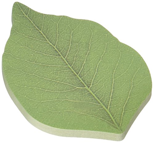 AUCH 200 Pages Creative Green Tree Leaf Paper Sticky Memo Notes, Scratch Pads, Sticky Note, Memo Pad ,Notepad (50Pages/Set x 4Sets)