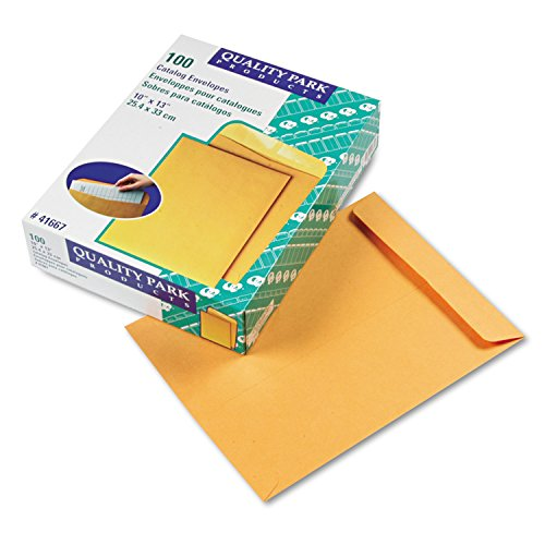 (Quality Park 41667 Catalog Envelope, 10 x 13, Brown Kraft, 100/Box)