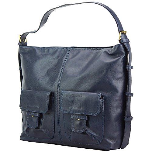 Market Leather Genuino Hombro Bolso En Totally Hobo Oscuro Vaca De Florence 3118 Al Azul Hecho Cuero v5qxdvS