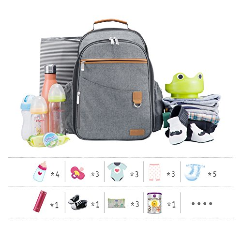 7132f6f7a6f5 Boy Diaper Bag Backpack Unisex,Wide Open Designer Travel Baby Nappy Bags  with Changing Pad...