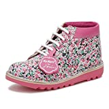 Kickers Joules Junior White/Pink Leather Kick Hi Boots-UK 12.5 Kids