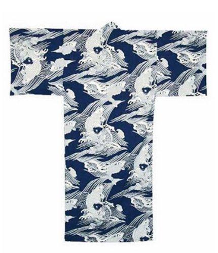 Japanese XXXL Koi Design Cotton Kimono Yukata Robe #TK294XLL