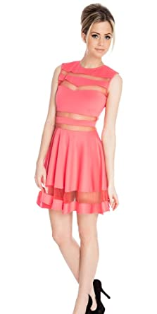 prom skaters dresses 2015 sheer short evening night out party Pink for  Chirstmas d61fa509b6