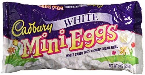 White Chocolate Bunny - Cadbury White Mini Eggs, 9-Ounce Bag (Pack of 2)