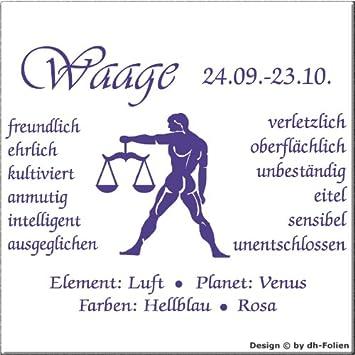 wall-refine WS-00773 | STERNZEICHEN WAAGE | Premium Wandtattoo ...