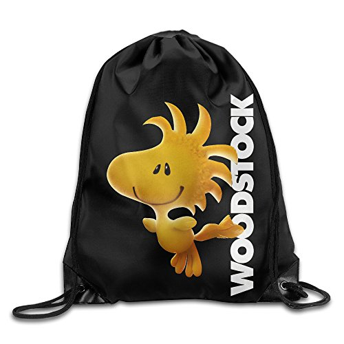 String Bean Costume (Drawstring Backpack Bag Peanuts Woodstock)