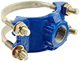 Smith-Blair Ductile Iron Saddle Clamp, Double Bale, 4'' Pipe Size, 2'' NPT Female Outlet