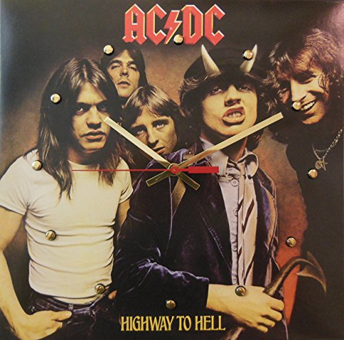 Record Cover Wall Clock - AC/DC (Highway To Hell). Handmade 12