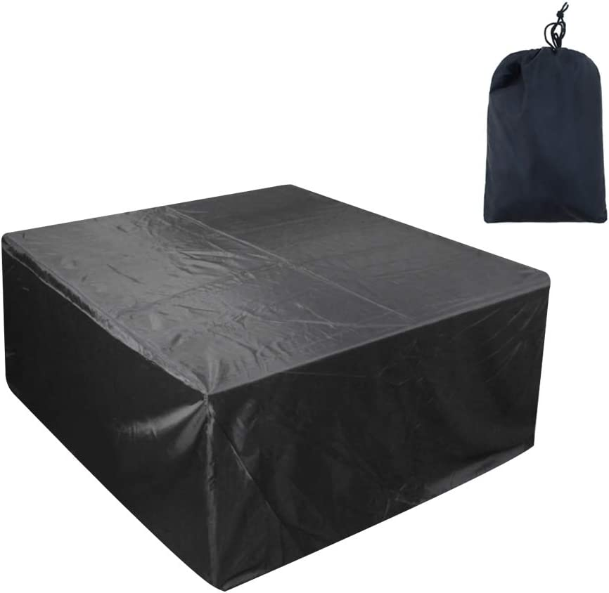 75/ï/¼/‰ KENANLAN 1 set 210D Oxford Cloth Outdoor Furniture Cover,Garden Dustproof Waterproof Cover Table and Chair Tarpaulin/ï/¼/ˆ135*135