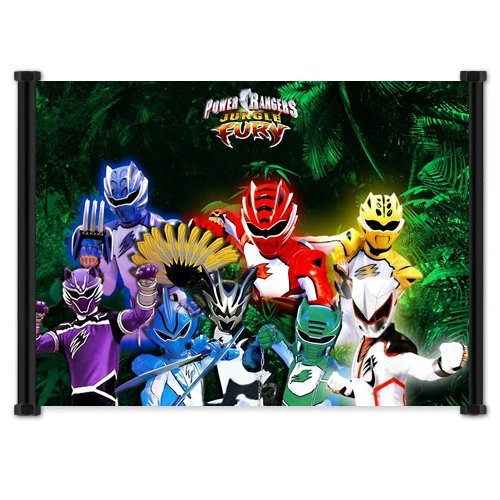 Power Rangers Jungle Fury (TV) Show Fabric Wall Scroll Poster (21