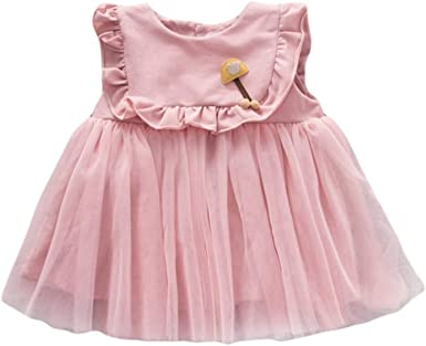 Urmagic Robe Bebe Fille Robe Tutu Sans Manches Bebe Fille Robe De Princesse Pour 0 36 Mois Amazon Fr Vetements Et Accessoires