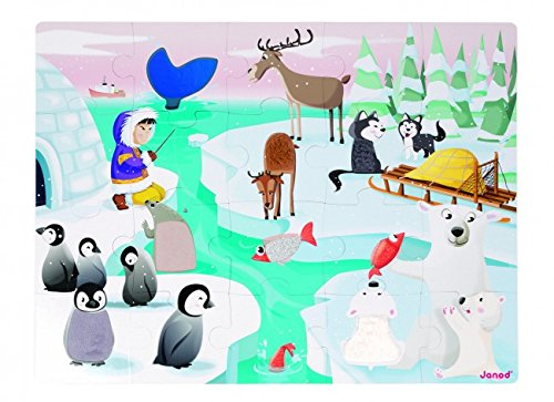 Janod Tactile Puzzle Life on the Ice (20 Piece)