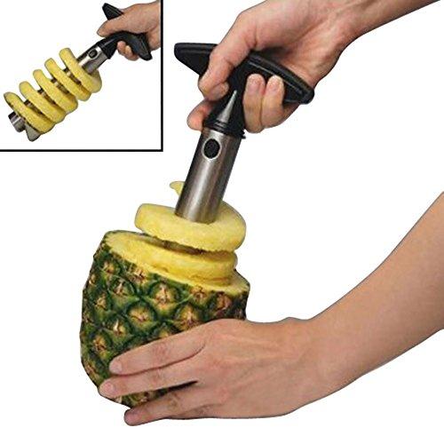 Angelwing Fruit Pineapple Corer Slicer Cutter Peeler Stainle