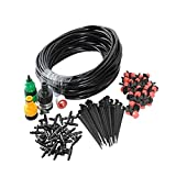 lzndeal 10M DIY Micro Drip Irrigation System Plant Automatic Self Watering Garden Hose Kits with Connector