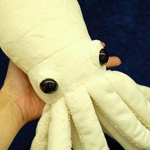 51CRMAUl3ML - Hamee Sea Creature Giant Squid Realistic Plush Doll (White / 76 cm)